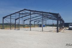 Strucure du hangar en construction